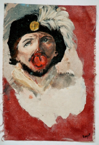 Le beau parleur, huile sur toile, 2001