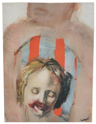 L'échauffée, huile sur toile, 2001